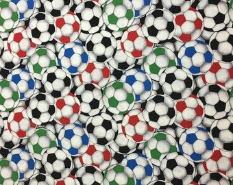 Soccer Ball Cotton Fabric by the Yard - 36x44 inches off the bolt