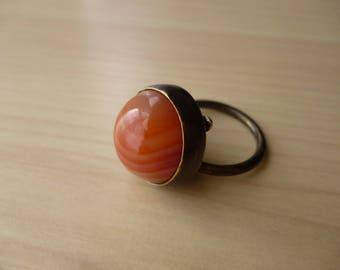 Door Knocker Ring (Sardonyx)