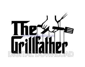 the grillfather svg, dad svg, vinyl design, svg, bbq svg, grill svg, cricut svg