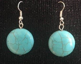 Turquoise bead earrings