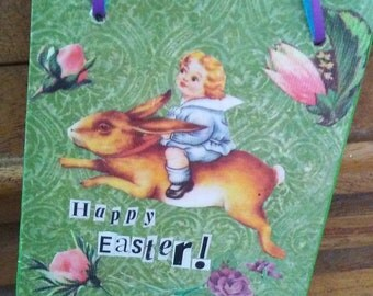 Happy Easter small wooden sign