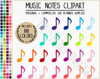SALE 100 MUSIC NOTE clipart rainbow music note stickers music stickers audiobook stickers music clipart colorful podcast icon ipod stickers