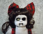 Creepy Doll  #125  Dead Girl Doll  Dark Art  Horror Collectible  day of the dollies