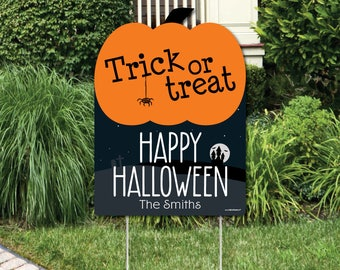 halloween decorations personalized halloween yard sign outdoor lawn decorations trick or treat - Personalized Halloween Decorations