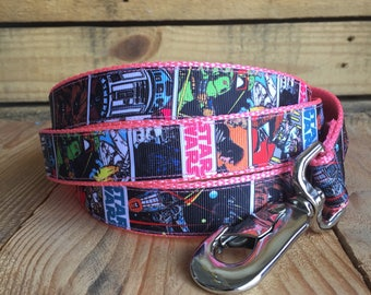 "Star Wars dog leash, 1"" width, 6 feet long"