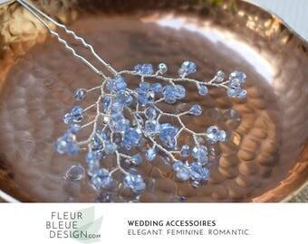 blue hair pin | bridal hair pin blue | wedding hair accessory | wedding hair pin | hair pin bride | hair pins for wedding
