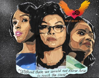 Hidden Figures - Movie Drawing