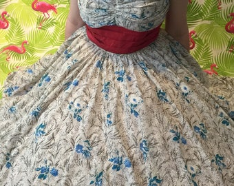 Magnificent floral 1950's dress by Paristyle Creation