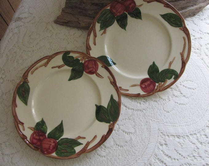 Franciscan Apple Salad Plates Set of Two (2) 1949-1953 Vintage Dinnerware and Replacements California Pottery