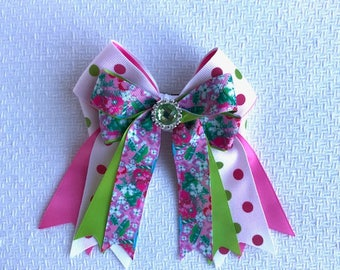 Equestrian Hair Bows/North Carolina Hair Accessory/Ready2Mail with clips