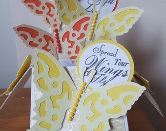 Personalised Handmade 3D Pop-Up Butterflies  Mum Sister Wife Nan etc Birthday Congratulations  Card