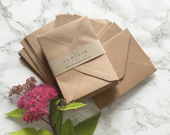 100 Mini Seed Envelopes Gift Card Envelopes Bulk Kraft recycled rustic for thank you cards mini notecards wedding favors 4.3/8x3.1/4 112x83