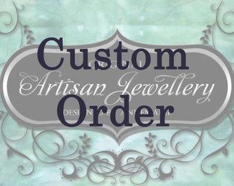 Custom moonstone earrings for Kelli