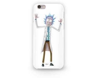 Rick Sanchez Phone Case Design from Rick and Morty with his famous catch phrase Wubba Lubba Dub Dub. Shown on Adult Swim on Cartoon Network