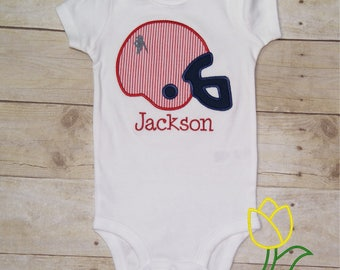 Rebel Ole Miss Football Baby Bodysuit Romper Personalized, Ole Miss Toddler Shirt