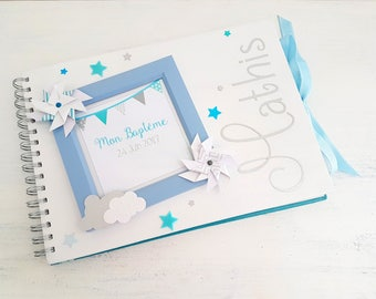 DAYDREAMS blue - the moment C baptism guestbook