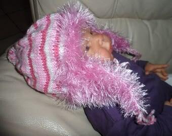 Hat, fur baby or reborn (0-3 months)