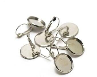 Pair of earrings Stud Earrings 18mm cabochons