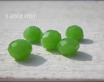 Beads ABACUS 10 mm Opaque Olivine x 5