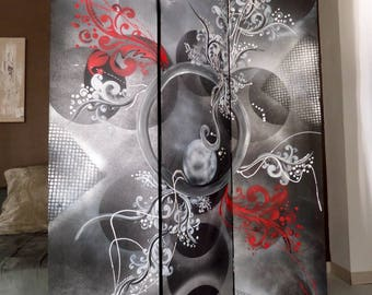 Double-sided screen baroque abstract painting
