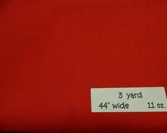 Red Cotton Fabric Ready to ship DESTASH 3 yards