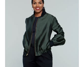 McCall's Pattern M7636 Misses' Bomber-Style Jacket