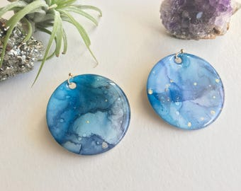 "1.5"" Round Statement Earrings 