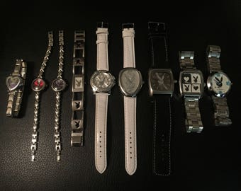 Lot of 9 Playboy Bunny Watch Quartz Collectible Watches Volans