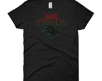 Black Panther Shirt, Black Excellence Shirt, Black Power, Malcolm X Shirt, Black History, African, Afrocentric, Black Pride Woman's T-Shirt