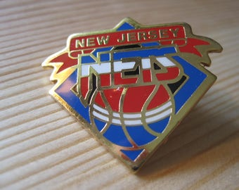 Vintage New Jersey Nets  Collectable Lapel/ Hat Pin