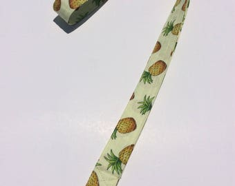 Pineapples Lanyard ID Badge Key Keeper Keychain Camera Strap Fabric Yellow with Pineapples