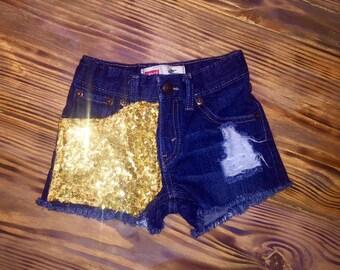 Gold Sequin Shorties