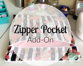 Planner Pouch Add On - Front or Back Zipper Pocket