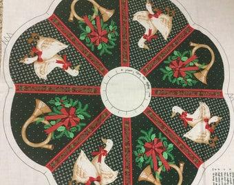 Christmas Wreath Panel! Vintage! Geese! So cute!!