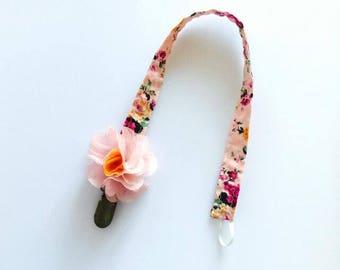 WS Pacifier Clip - Vintage Floral