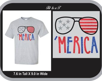 Merica Patriotic T-Shirt, Fourth of July T-shirt, Memorial Day T-shirt