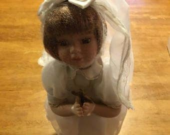 "16"" Porcelain Confirmation Doll from Duck House"
