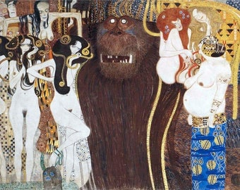 Laminated placemat Klimt 1 Beethoven frieze
