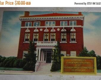 ON SALE till 6/30 Southern Baptist Convention Headquarters, Richmond, Virginia RARE Vintage Linen View Postcard