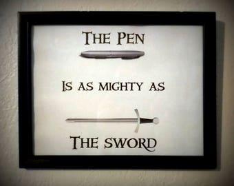 Percy Jackson Art Pen Sword Quote