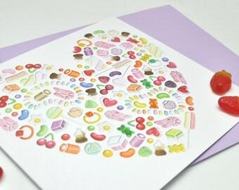 Sweetheart papercut print card