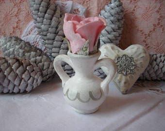 Shabby jar made of clay