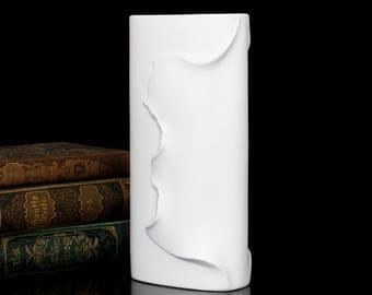 Vintage White Bisque Porcelain Vase, KAISER / Designed by M. Frey / Mid Century Collectible German Pottery