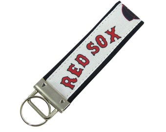 Personalized Key Chain / Key Fob Boston Red Sox with Optional Initials
