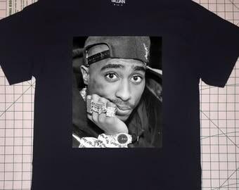 Black and White Tupac T-shirt
