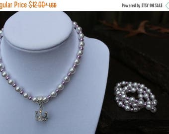 Semi-Annual SALE Sofia the First Inspired Necklace and Bracelet Set - JTJ15705