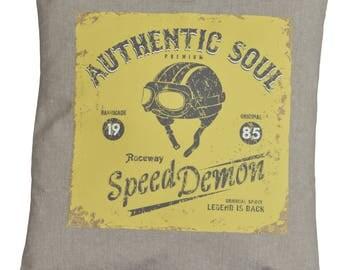 """Cushion 40x40cm removable """"Authentic Soul"""" pattern"""