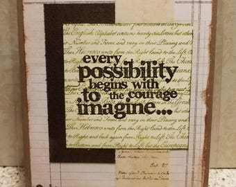 "Handmade Card ""Every Possibility..."""