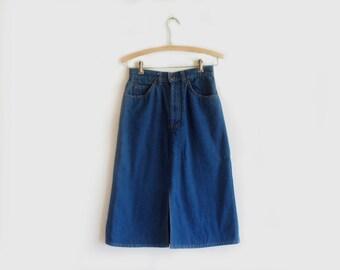 vintage orange tab Levis denim skirt