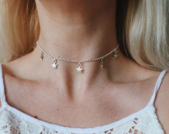 Starlit Charm Choker Necklace